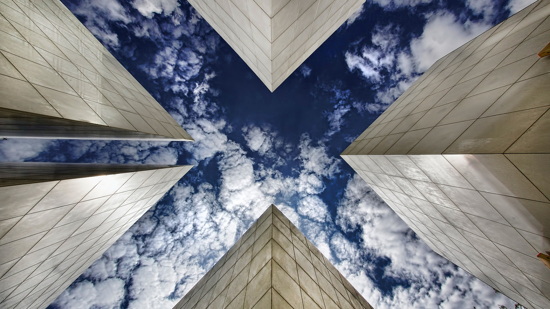 X buildings sky