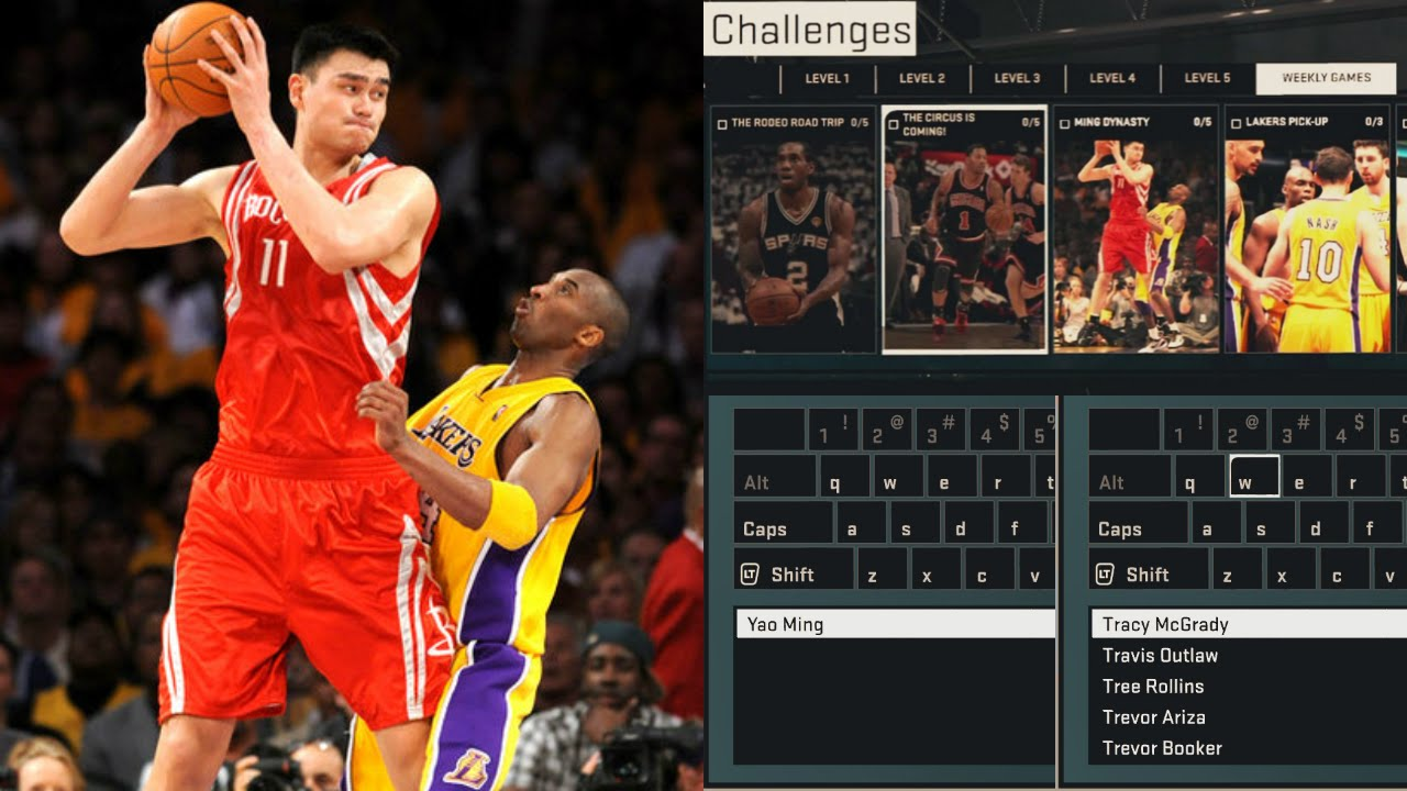 NBA 2K15 My Team YAO MING DYNASTY CHALLENGE! Tracy McGrady too?