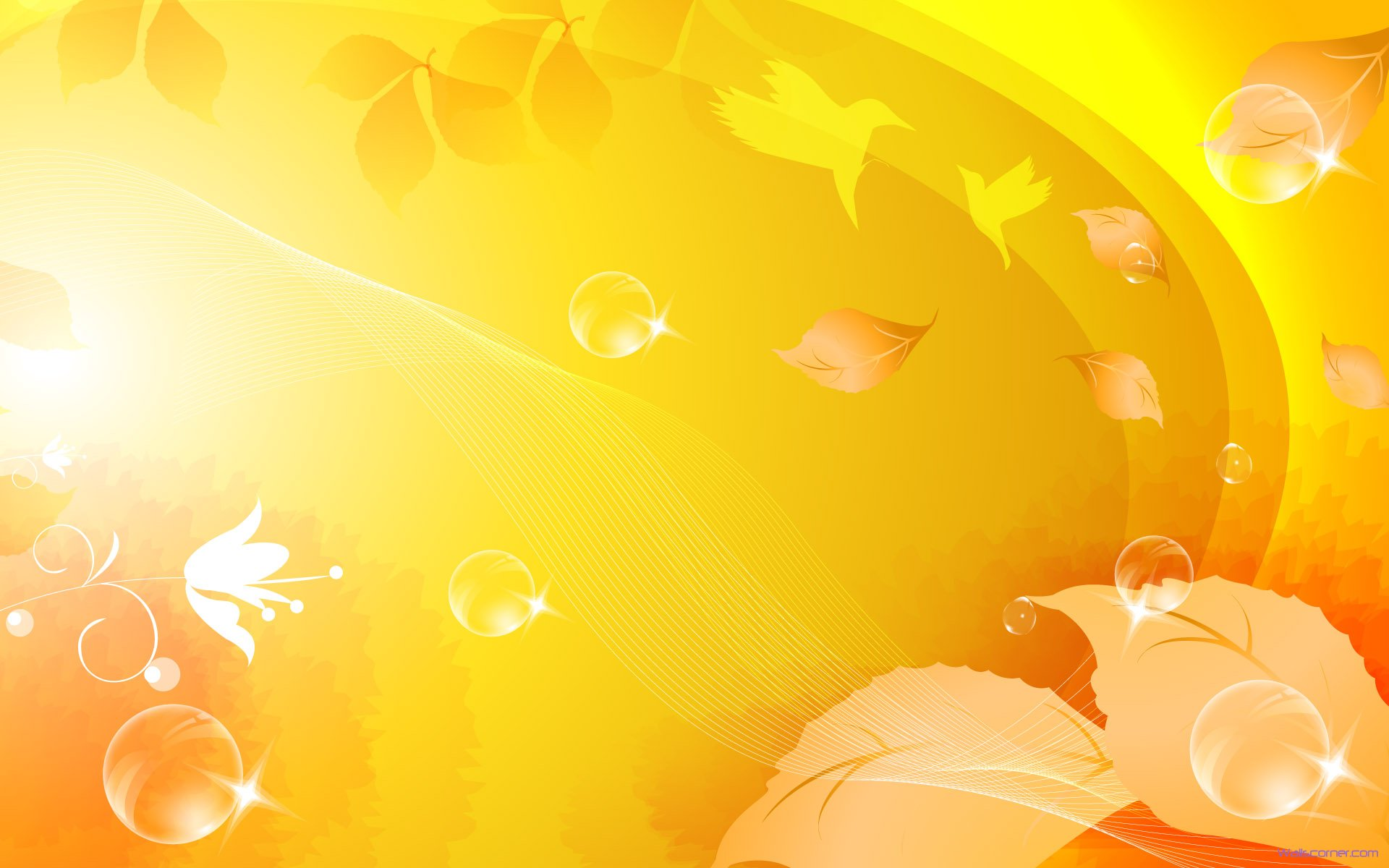 Beauty Yellow Abstract Wallpapers 1920x1200px
