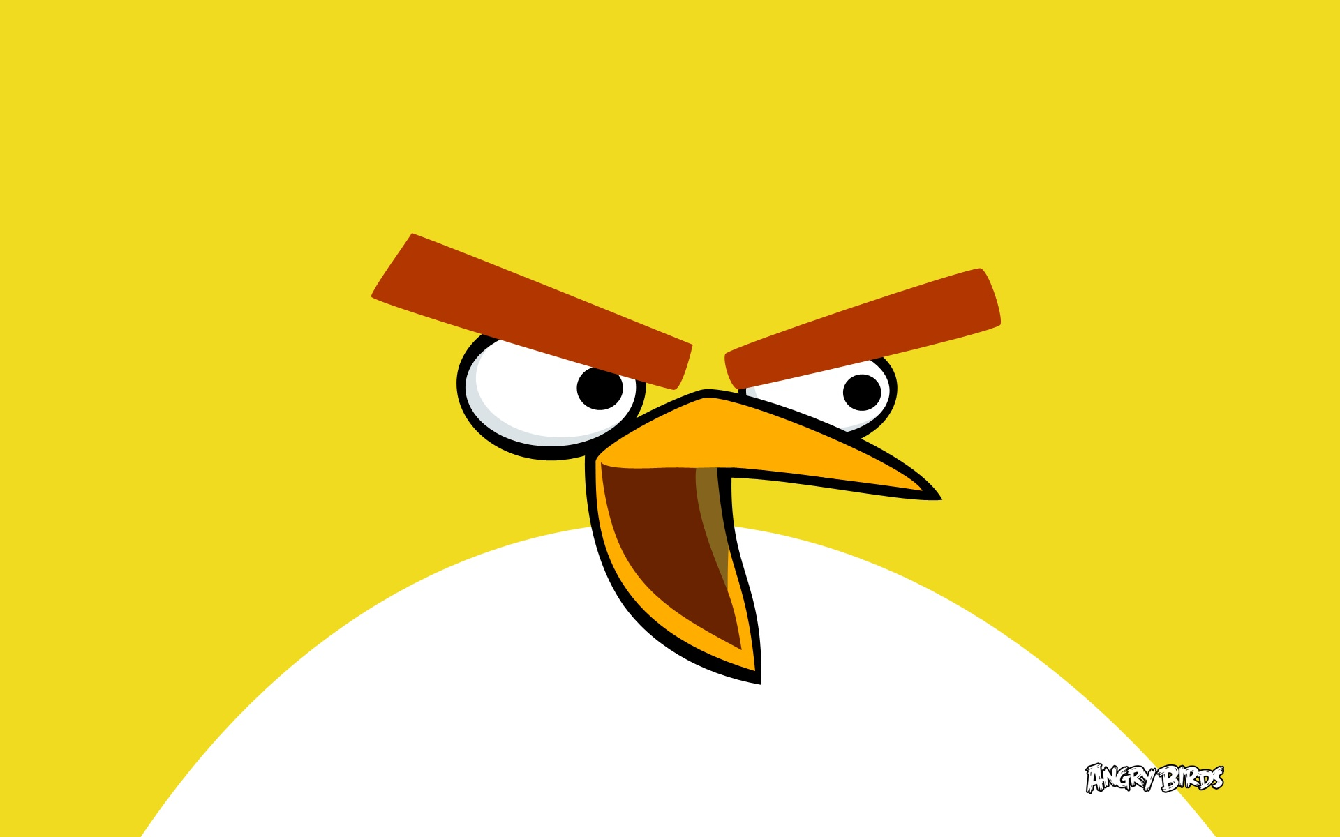 Yellow Angry Bird Wallpaper