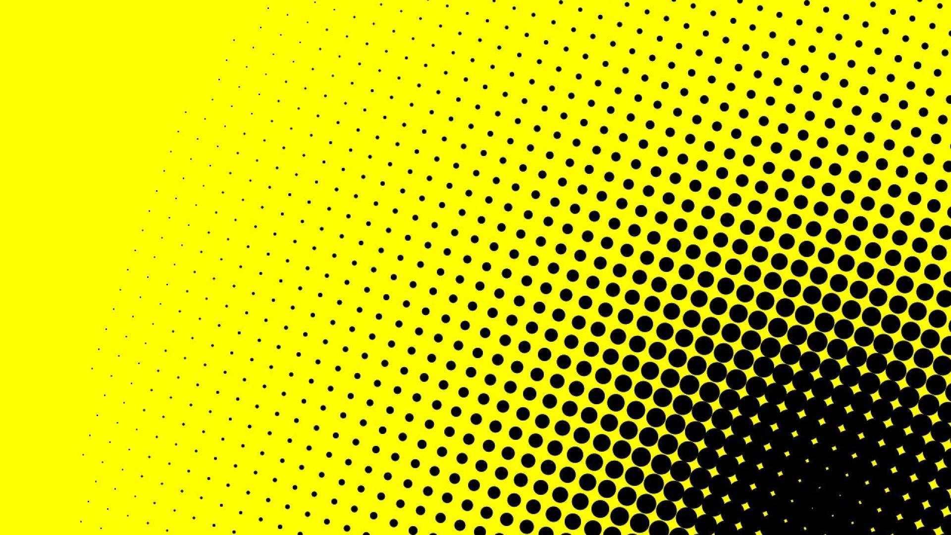 Dots Yellow Background Abstract Hd Wallpaper Hq