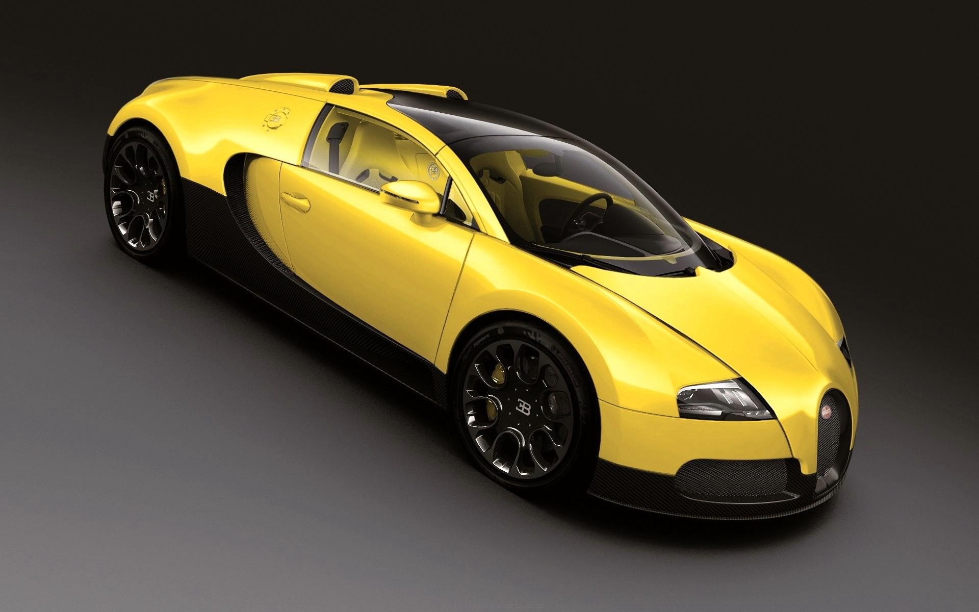 Yellow black Bugatti
