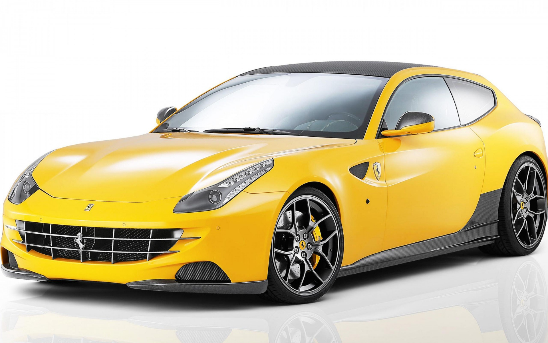 Car Ferrari Yellow Sport Sportscar Widescreen wallpaper