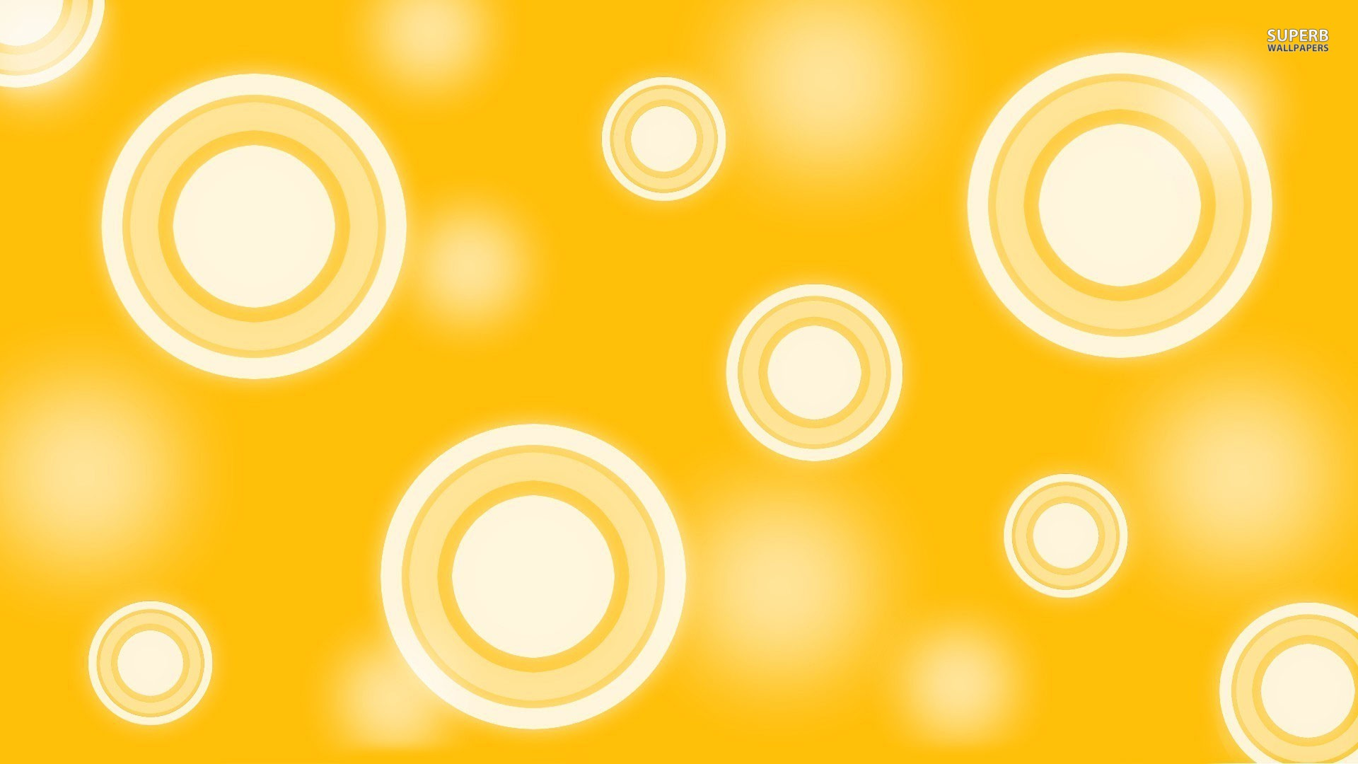 Retro yellow circles wallpaper 1920x1080
