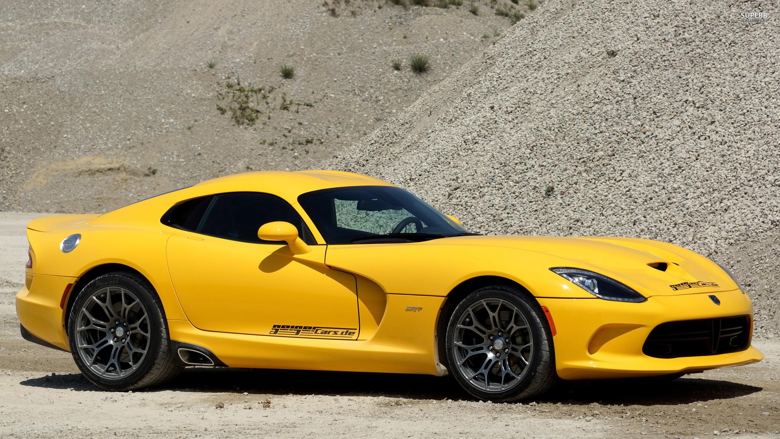 Yellow dodge srt viper