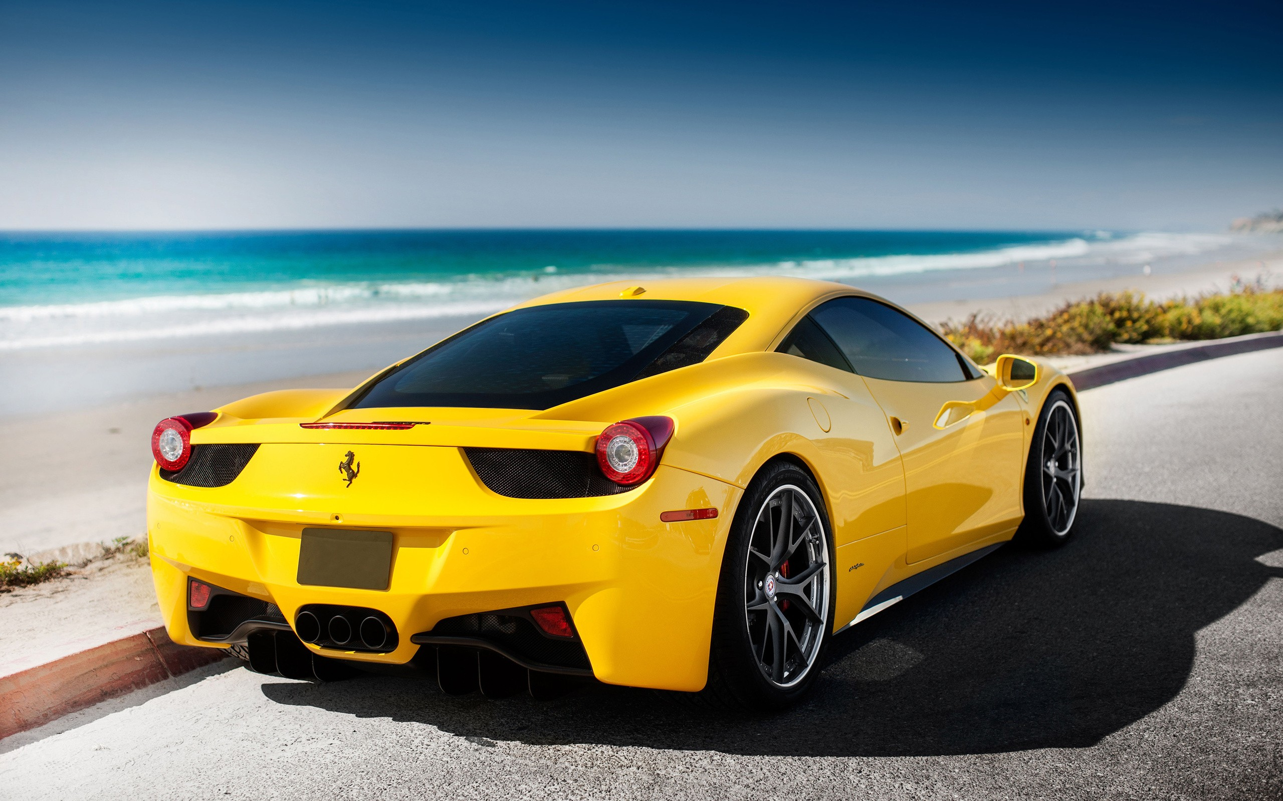 Awesome Yellow Ferrari Wallpaper