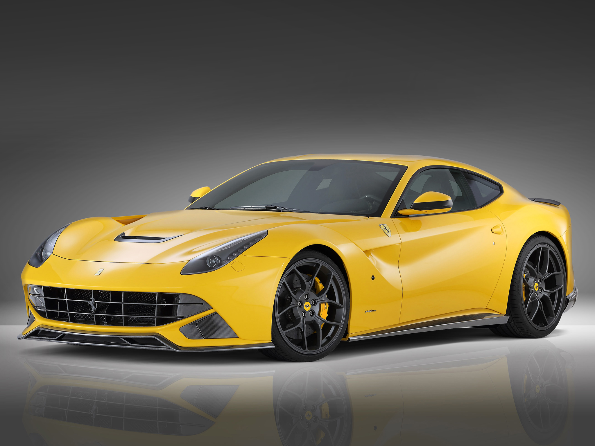 Car-wallpapers-Yellow Ferrari F12 Berlinetta-wallpaper