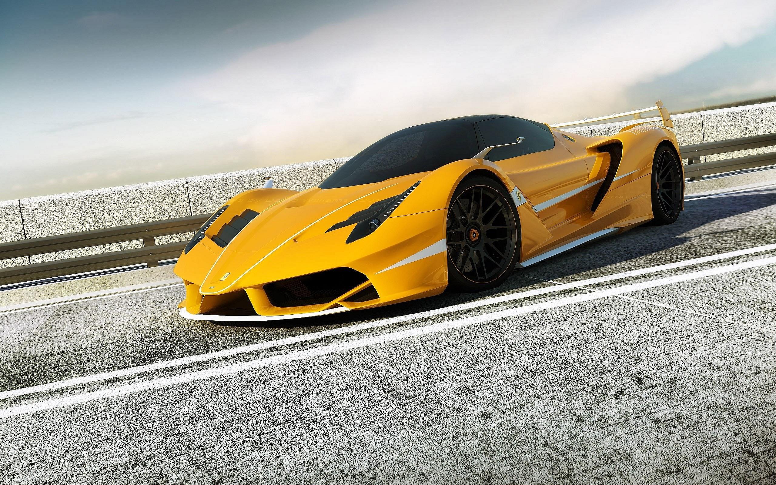 Yellow Ferrari F70