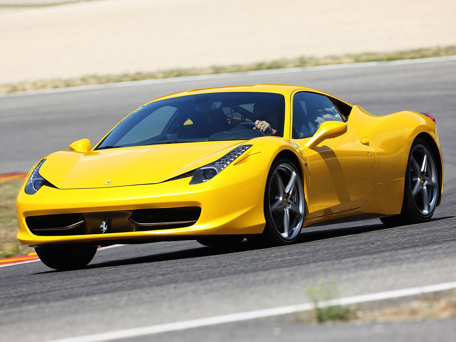 Yellow Ferrari Pictures