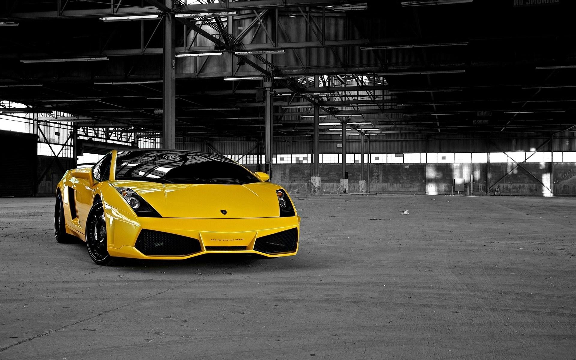 Yellow Lamborghini Background