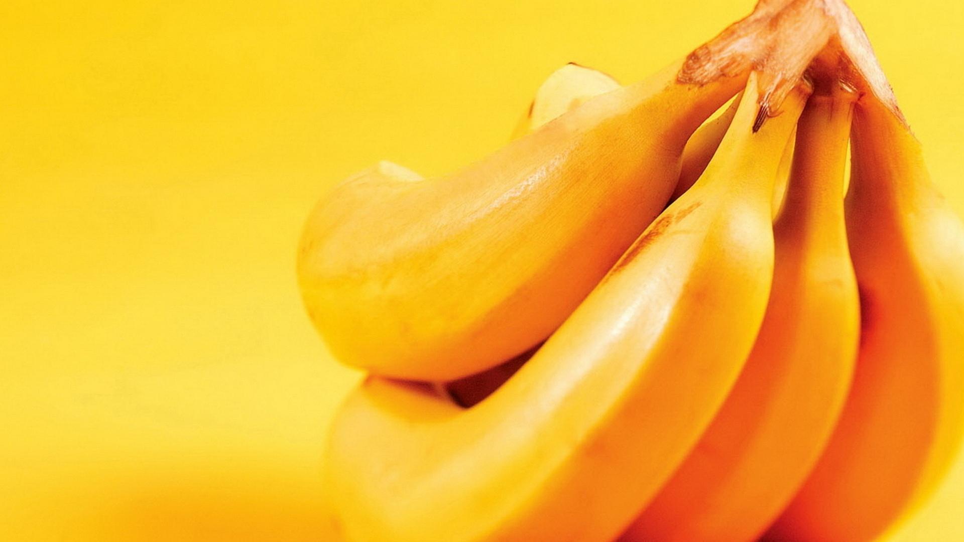 Yellow Banana Fruits Macro Wallpaper Yellow Background Wallpaper