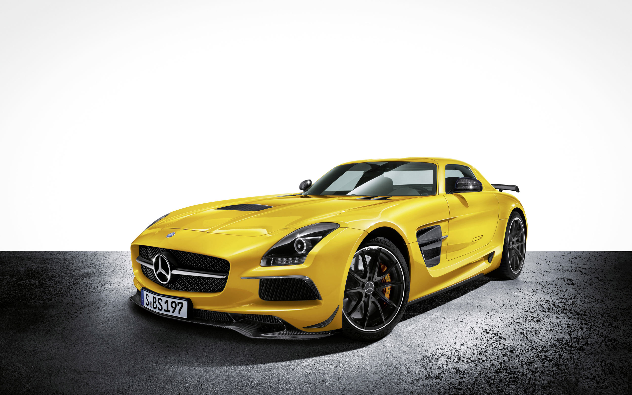 Yellow Mercedes Wallpaper