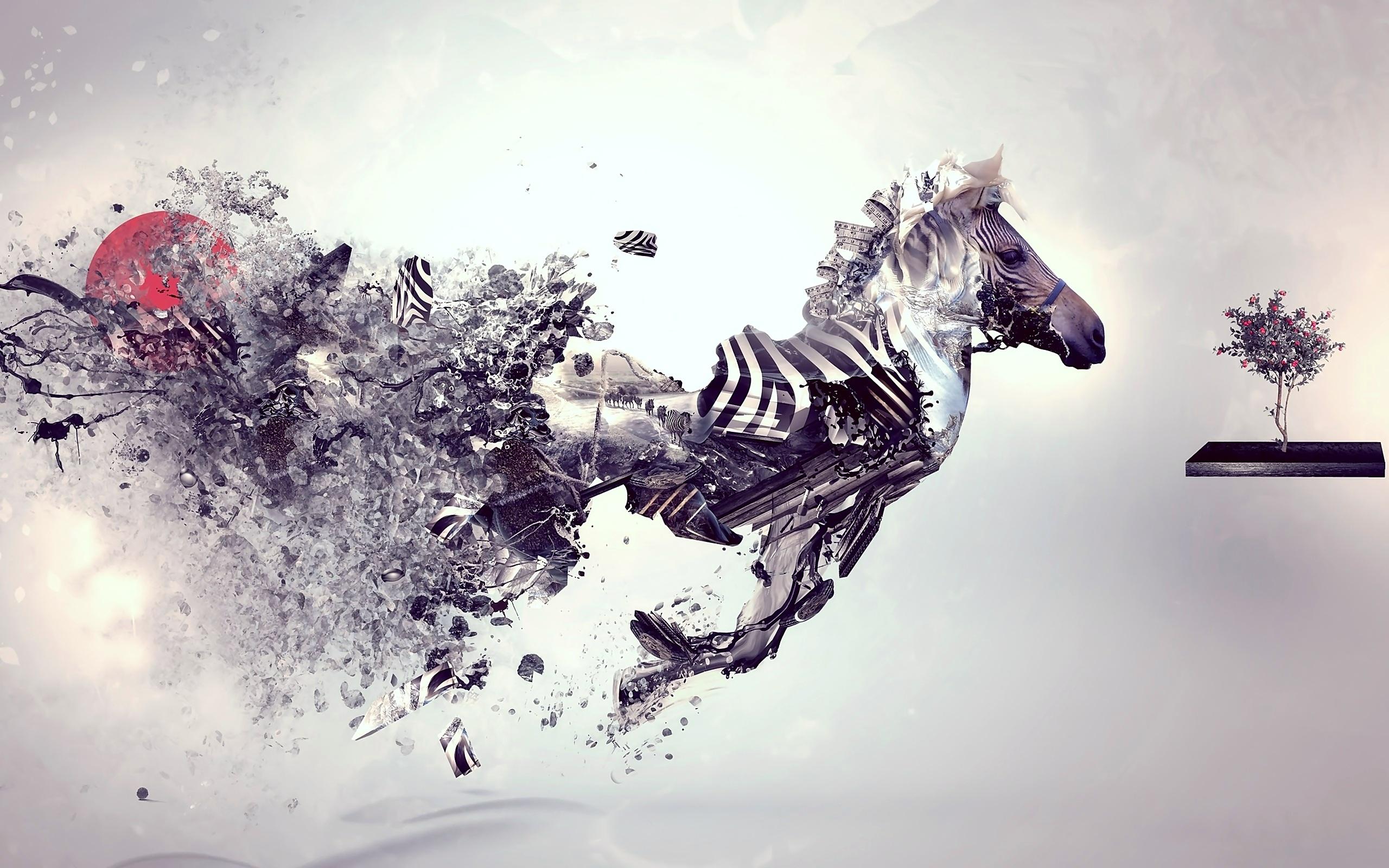 Zebra Abstract Art