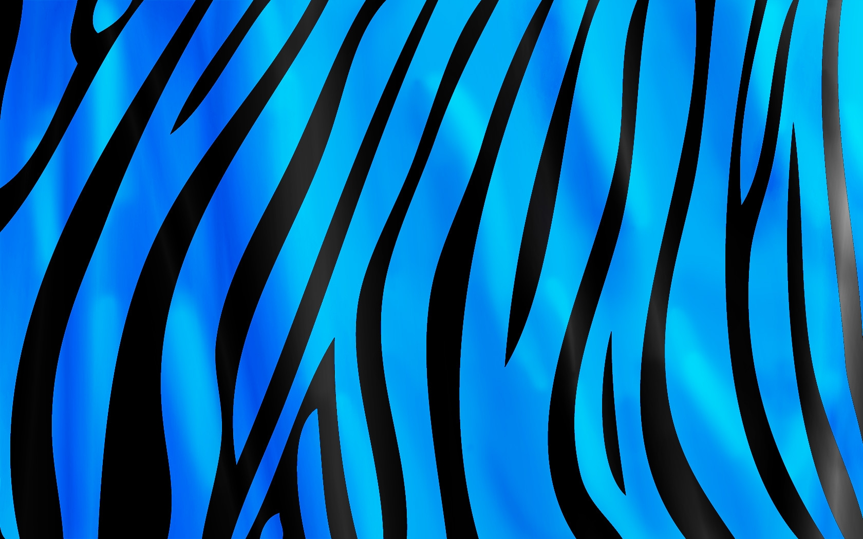 Glamorous Blue Zebra Print Hd Wallpaper