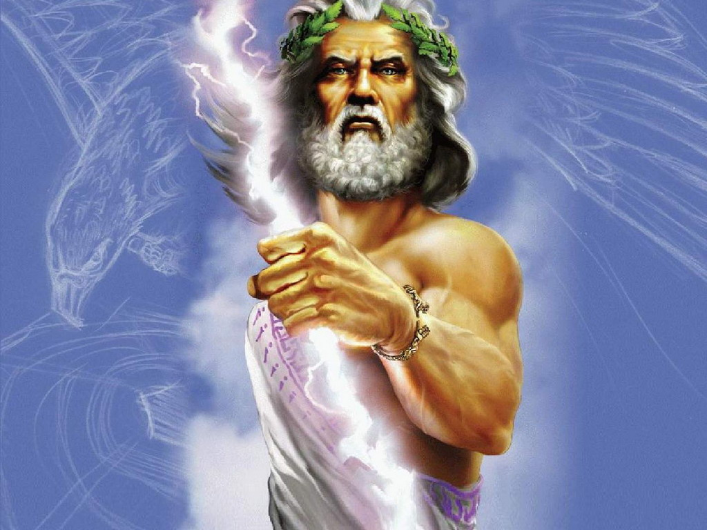 The sky god Zeus, a manifestation of Lucifer's fallen angels.