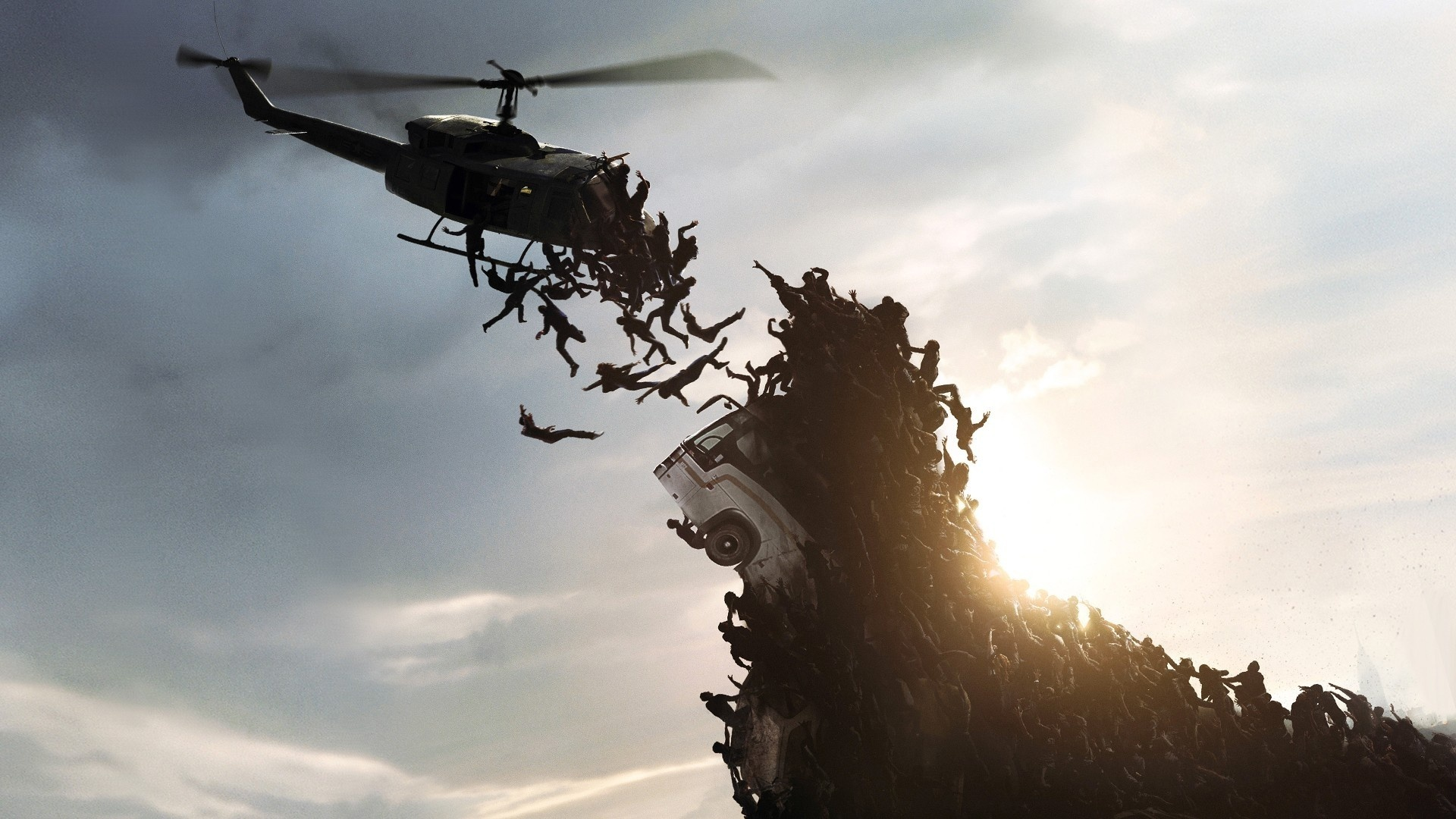 Zombies Helicopter Wallpaper 1920x1080 11216