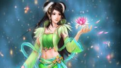 Fantasy Girl With Flower