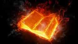 3D Fire Book Image - 3D HD Wallpaper