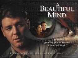 "Russell Crowe as John Nash in "" A beautiful mind"""