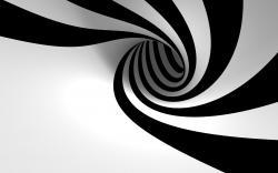 3D Black white Spiral