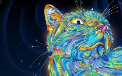 Abstract Cat Art