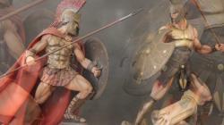 ARH Studios ACHILLES Statue & LEONIDAS Staue 1/4th Scale AP Edition Statues (HD)