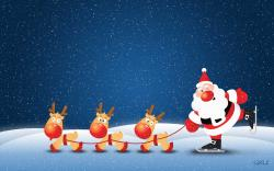 Cute Santa Claus wallpaper in 1920x1200 resolution
