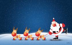 Cute Santa Claus wallpaper in 1920x1200 resolution