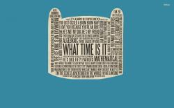 ... Adventure Time typography wallpaper 1920x1200 ...