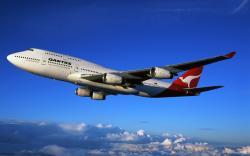 boeing 747, qantas, boeing, sky, clouds, plane, aircraft