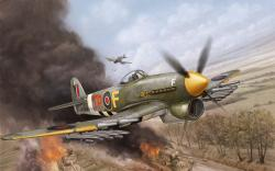 Art aircraft, the hawker typhoon, british, single, fighter, bomber, flames of war