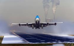 Take off aircraft jet landing