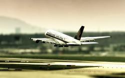 Tilt Shift Airport Wallpaper