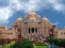 Each element of Akshardham echoes with spirituality – the Mandir, the Exhibitions and even the Gardens.The Akshardham mandir has over two hundred murtis, ...