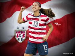 Alex Morgan USA Wallpaper - http://www.wallpapersoccer.com/alex-morgan-usa-wallpaper.html | Soccer ⚽   | Pinterest