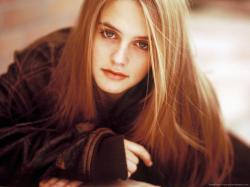 ... Alicia Silverstone sepia portrait for 1280x960