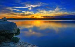 Amazing Blue Sunset