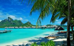 Beach resort bora bora