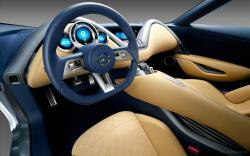 6225 views 2011 Nissan Electric Sports Concept Car Interior