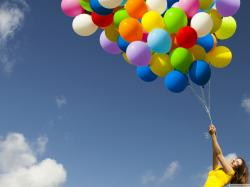 Amazing TV Shows Pic, Girl with Ballons, Fly My Dream in the Blue Sky