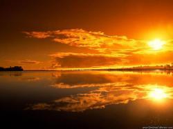 Lake Sunset Wallpaper