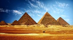 The Pyramid complex at Giza, one of the world's famous places