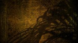 Gold shadows golden ancient relic wallpaper