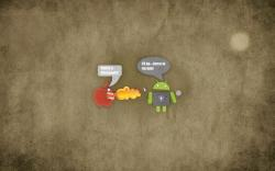 Apple and Android shouting
