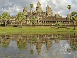 Angkor-wat Vishnu temple city complex in Siem Reap, Cambodia