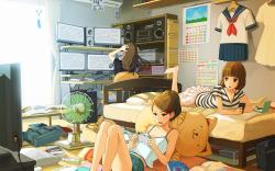 Anime girls room