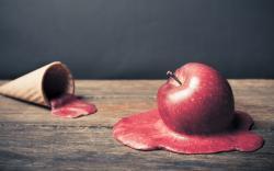 Apple Ice Cream Art