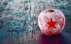 Apple Red Star Winter Christmas