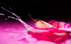 Apple splash pink liquid