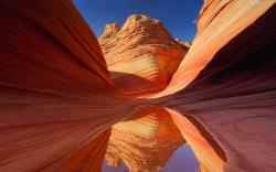 Actually, this picture of Antelope Canyon is a default Windows 7 wallpaper and skin.